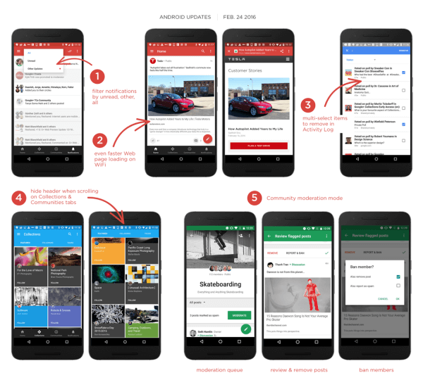 google plus android app update