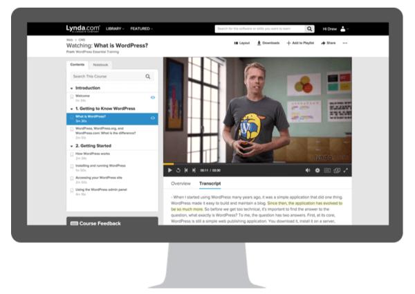 linkedin lynda course page