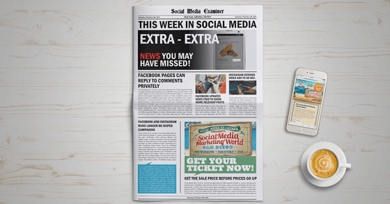 Facebook Pages Can Reply to Comments Privately: This Week in Social Media