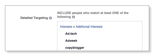 add interests