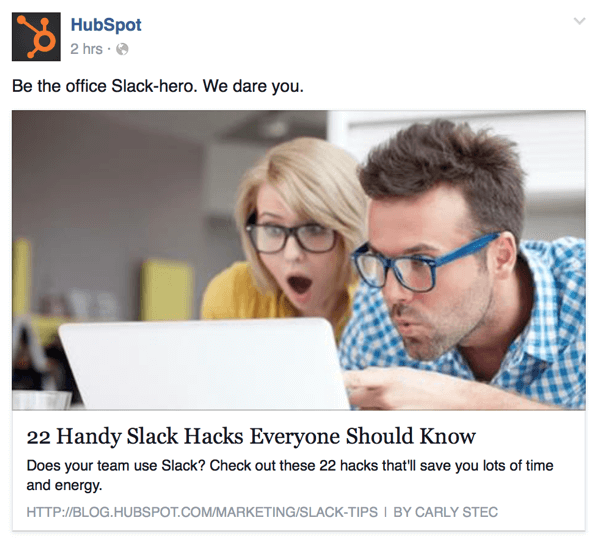 hubspot facebook example