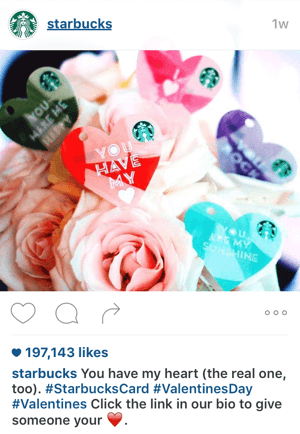 starbucks instagram call to action example