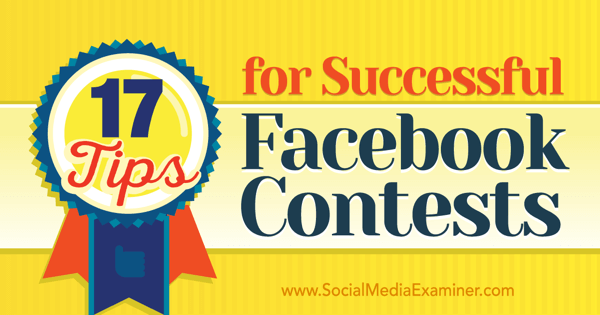 tips for successful facebook contests