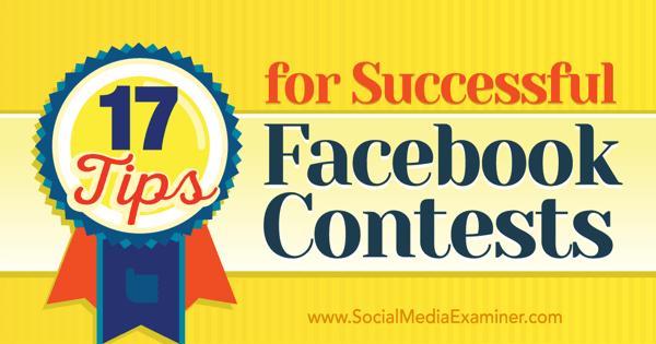 Tipps für erfolgreiche Facebook-Wettbewerbe