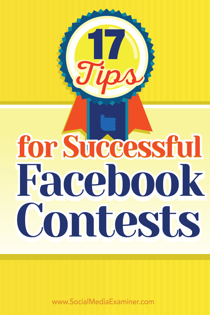 facebook contest tips