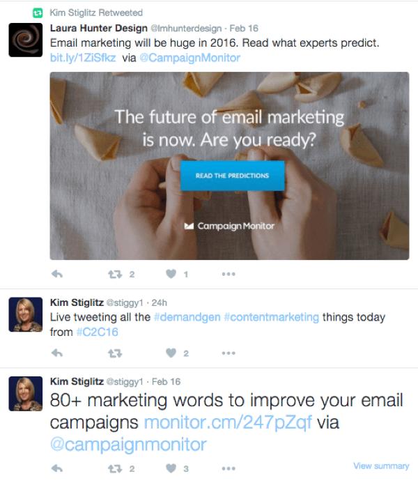 prospect tweet example