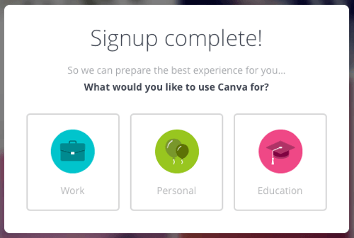 canva account use