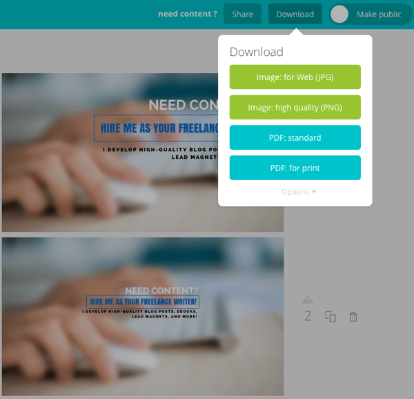 canva download image