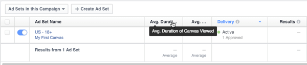 facebook canvas metrics in insights
