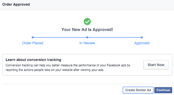 facebook canvas ad mobile approval notification