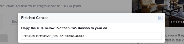 facebook canvas url