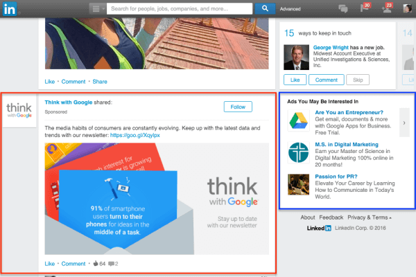 Resultado de imagem para linkedin ads