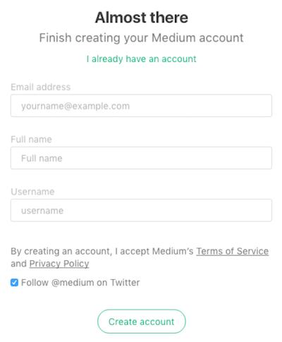 medium username