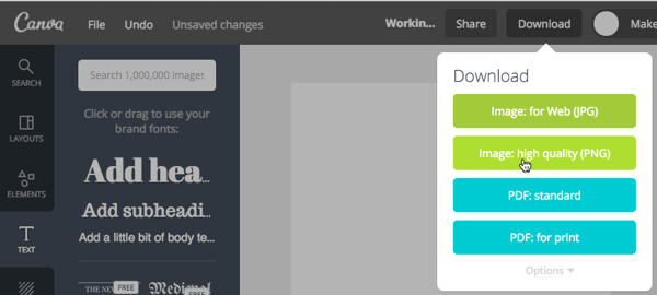 canva design export feature
