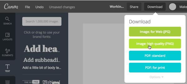 canva design export feature