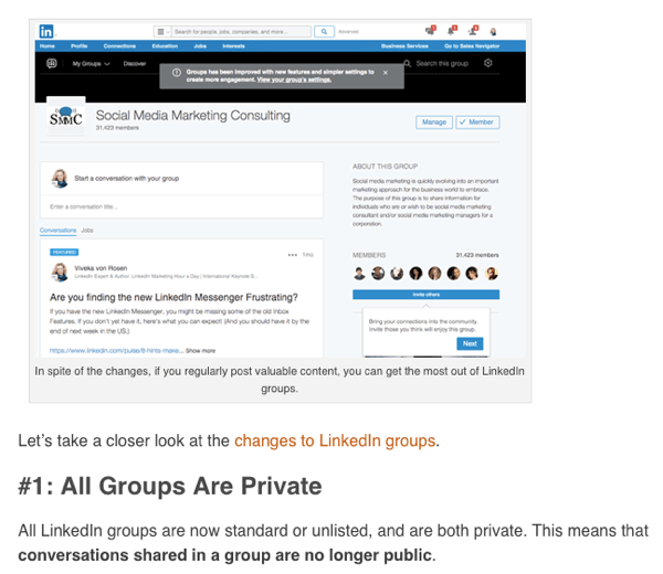 linkedin profile visibility by lisa larter