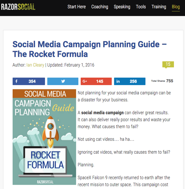 razor social blog