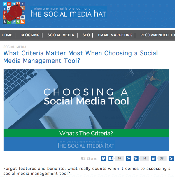 the social media hat blog