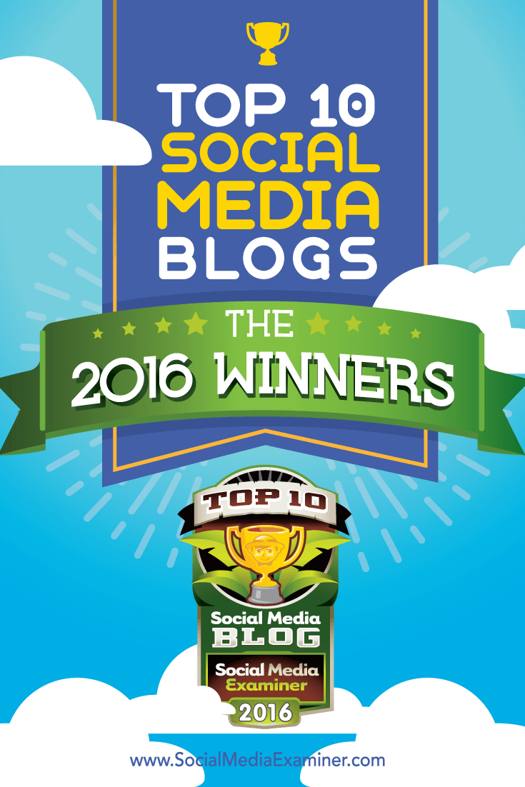 2016 top ten social media blog winners