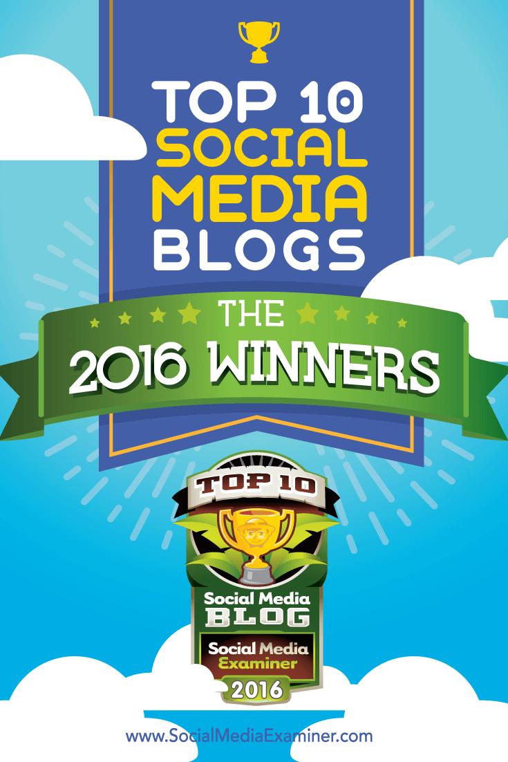 2016 top ten social media blog winners