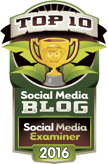 social media examiner top 10 social media blog 2016 badge