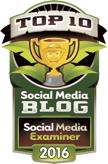 social media examiner top 10 social media blog 2016 badge