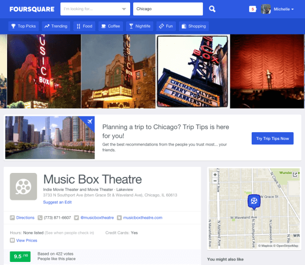 foursquare review site example