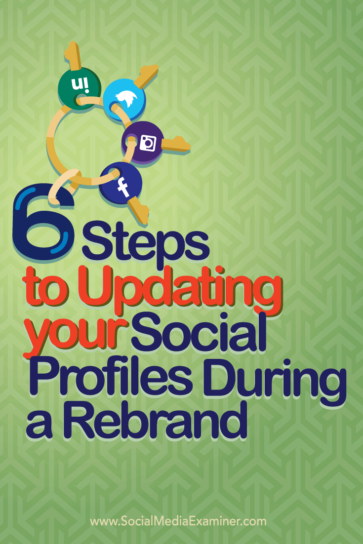 updating social profiles during a rebrand