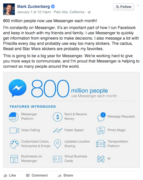 facebook messenger features
