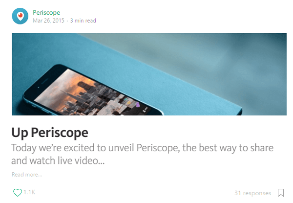 periscope launch