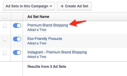 select ad set
