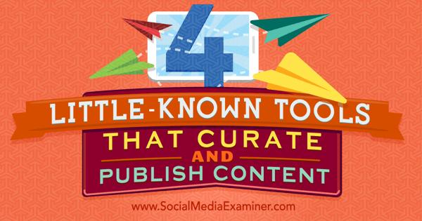 publish curated social media content