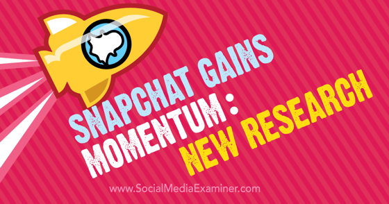 Snapchat Gains Momentum: New Research