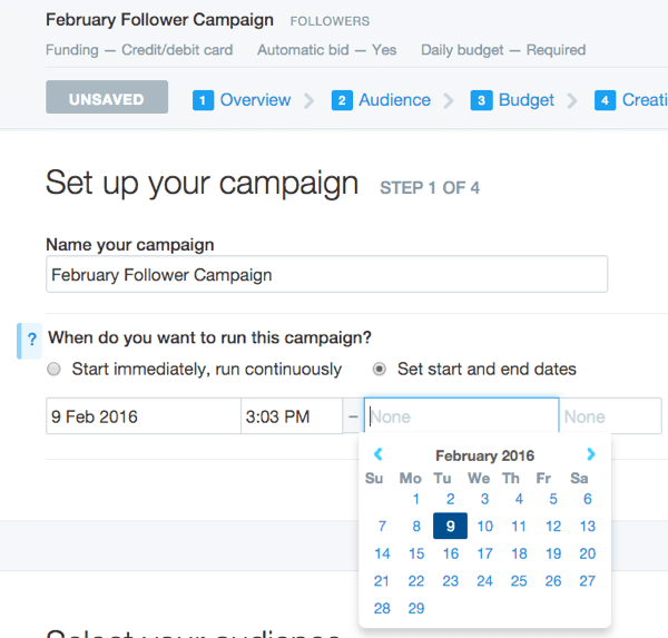 twitter promoted account ad dates