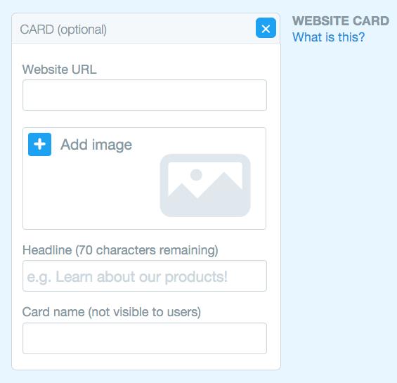 twitter website click website card template
