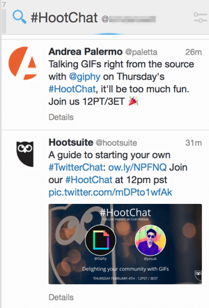 tweetdeck chat hashtag stream