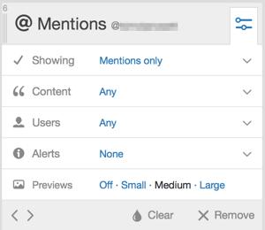 tweetdeck customize column