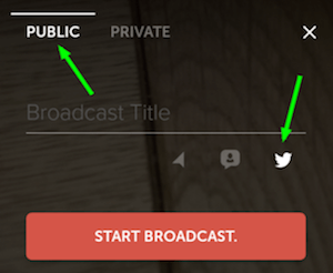 periscope broadcast button