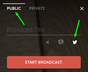 periscope broadcast button