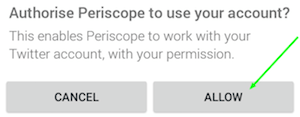 authorize twitter and periscope