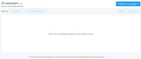 twitter ads interface