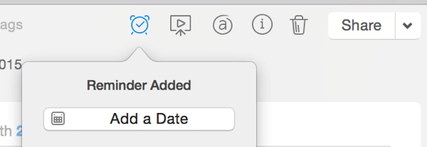 reminder date in evernote