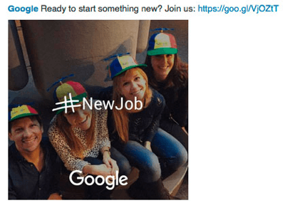 google linkedin ad to find talent