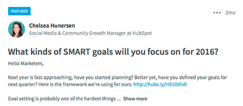hubspot inbound marketers group conversation post