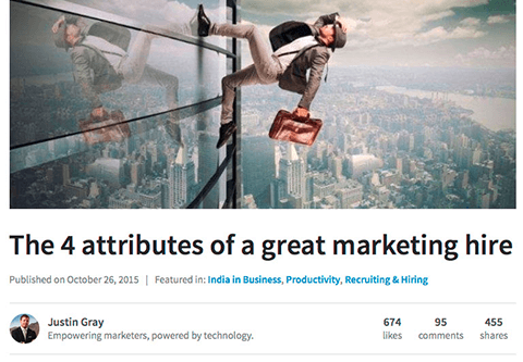 justin gray linkedin publisher professional expertise post