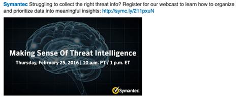 symantec linkedin webinar update