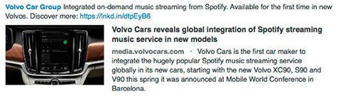 volvo linkedin product update with link