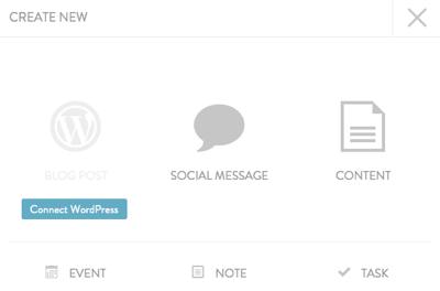 add content through coschedule