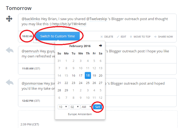 change tweet date in buffer