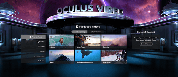 facebook oculus social features